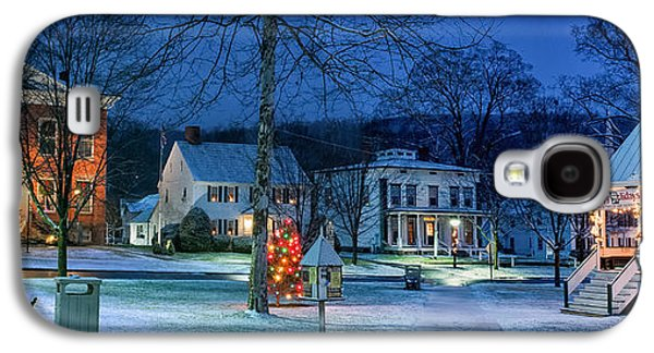 Village Of New Milford - Winter Panoramic Galaxy S4 Case by Thomas Schoeller