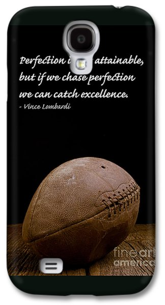 Sports Galaxy S4 Case - Vince Lombardi On Perfection by Edward Fielding