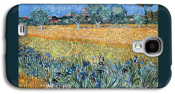 Field With Flowers Near Arles Galaxy S4 Case by Vincent van Gogh