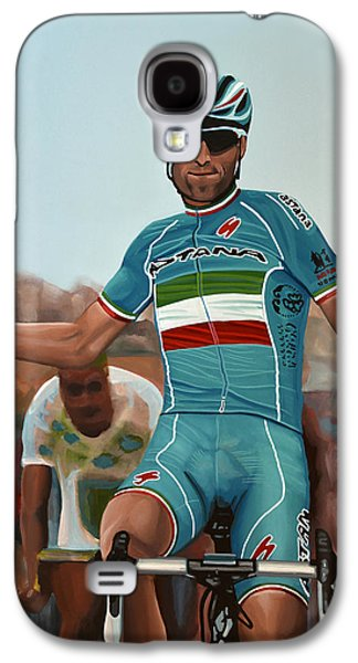 Vincenzo Nibali Painting Galaxy S4 Case by Paul Meijering