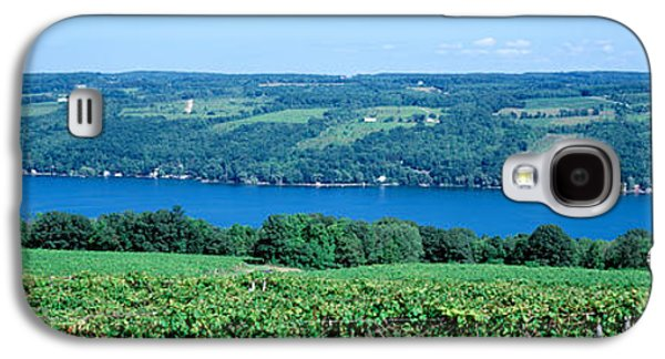 Vineyard With A Lake In The Background Galaxy S4 Case by Panoramic Images