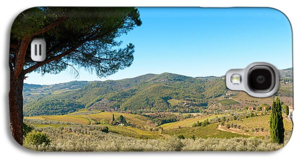 Vineyards And Olive Groves, Greve Galaxy S4 Case by Nico Tondini