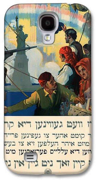 Vintage Yiddish World War I Poster 1917 Galaxy S4 Case
