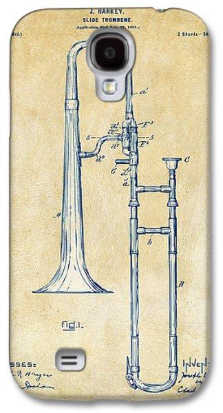 Trombone Galaxy S4 Case - Vintage 1902 Slide Trombone Patent Artwork by Nikki Marie Smith
