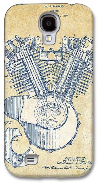 Vintage 1923 Harley Engine Patent Artwork Galaxy S4 Case