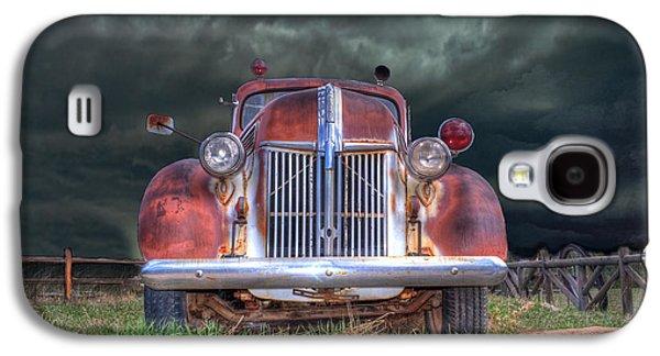 Vintage American Lafrance Fire Truck Galaxy S4 Case