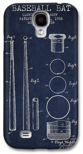 Baseball Bats Galaxy S4 Case - Vintage Baseball Bat Patent From 1926 by Aged Pixel