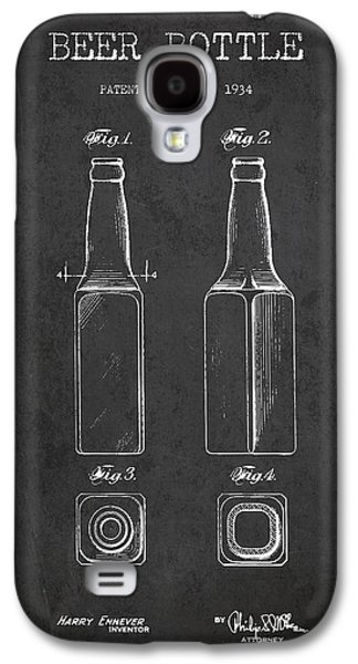 Vintage Beer Bottle Patent Drawing From 1934 - Dark Galaxy S4 Case by Aged Pixel