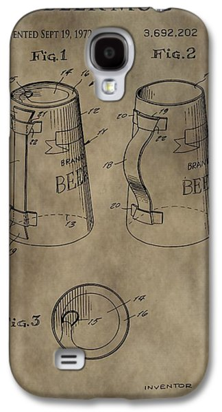 Vintage Beer Mug Patent Galaxy S4 Case by Dan Sproul