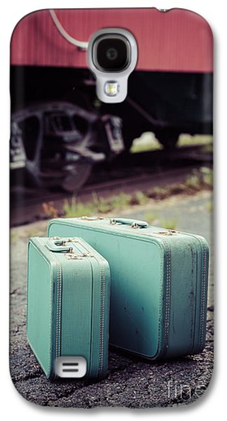 Vintage Blue Suitcases With Red Caboose Galaxy S4 Case