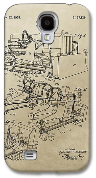 Vintage Bulldozer Patent Galaxy S4 Case by Dan Sproul