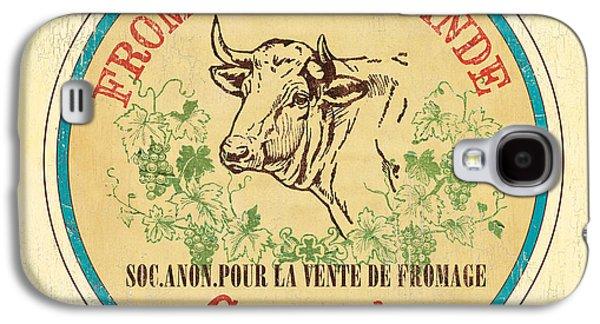 Cow Galaxy S4 Case - Vintage Cheese Label 1 by Debbie DeWitt