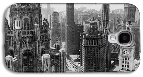 Vintage Chicago Skyline Galaxy S4 Case
