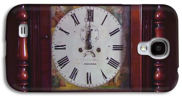 Vintage Clock Wallclock Swiss Time Period Minute Second Hour Calculate Border Frame Wooden Case Wood Galaxy S4 Case
