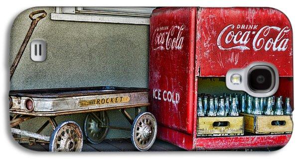 Vintage Coca-cola And Rocket Wagon Galaxy S4 Case