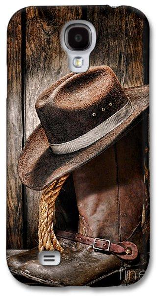 Vintage Cowboy Boots Galaxy S4 Case by Olivier Le Queinec