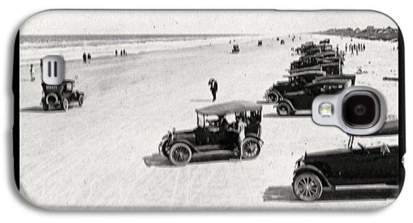 Vintage Daytona Beach Florida Galaxy S4 Case by Edward Fielding