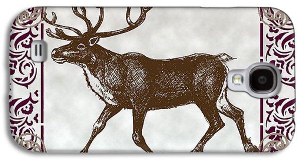 Vintage Deer Artowrk Galaxy S4 Case