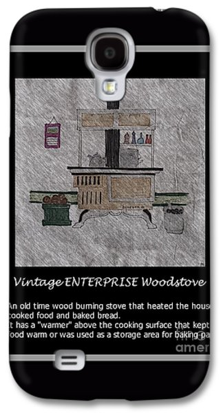 Vintage Enterprise Woodstove Galaxy S4 Case by Barbara Griffin