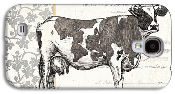 Cow Galaxy S4 Case - Vintage Farm 1 by Debbie DeWitt
