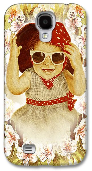 Vintage Fashion Girl Galaxy S4 Case by Irina Sztukowski