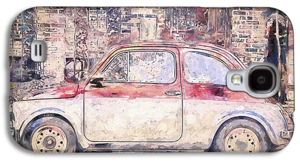 Vintage Fiat 500 Galaxy S4 Case by Scott Norris