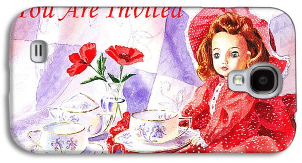 Vintage Invitation Galaxy S4 Case by Irina Sztukowski