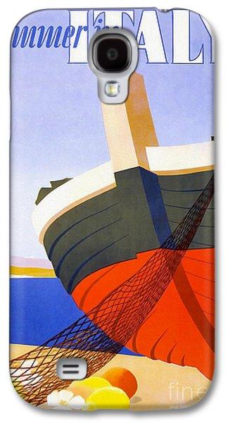 Vintage Italy Travel Poster Galaxy S4 Case by Jon Neidert
