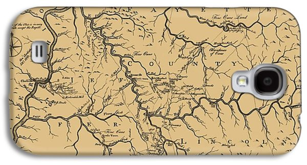 Vintage Kentucky Map Galaxy S4 Case by Dan Sproul