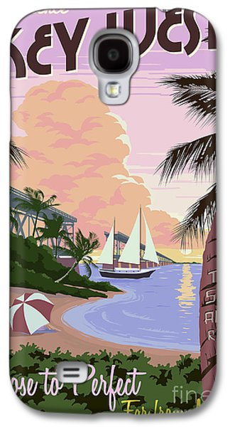 Vintage Key West Travel Poster Galaxy S4 Case