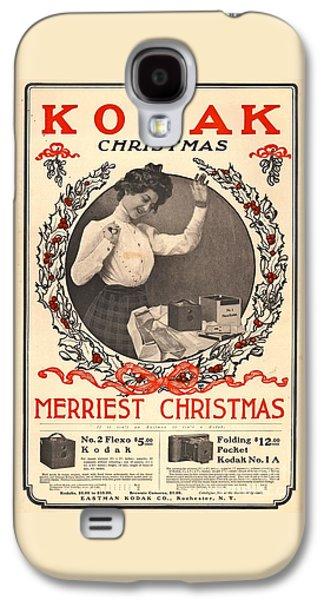 Vintage Kodak Christmas Card Galaxy S4 Case by Edward Fielding