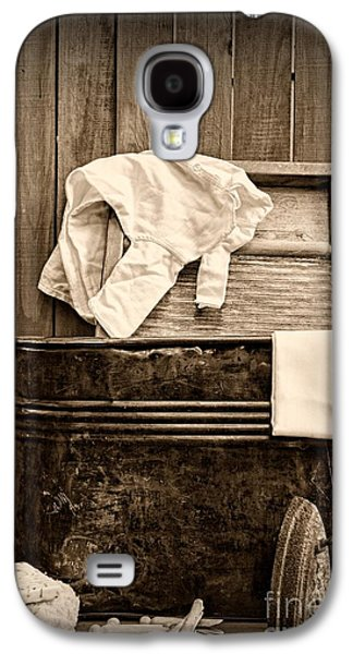 Vintage Laundry Room In Sepia	 Galaxy S4 Case by Paul Ward