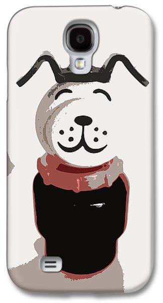 Vintage Lucky Dog Galaxy S4 Case by Jennifer Rondinelli Reilly - Fine Art Photography