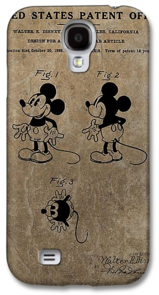 Vintage Mickey Mouse Patent Galaxy S4 Case