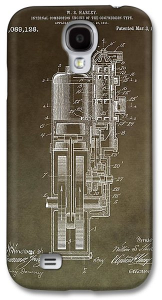 Vintage Motorcycle Engine Patent Galaxy S4 Case by Dan Sproul