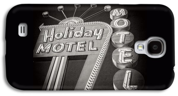 Vintage Neon Sign Holiday Motel Las Vegas Nevada Galaxy S4 Case by Edward Fielding