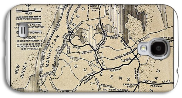 Vintage Newspaper Map Galaxy S4 Case