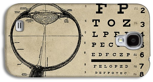 Vintage Ophthalmologist Eye Chart Galaxy S4 Case