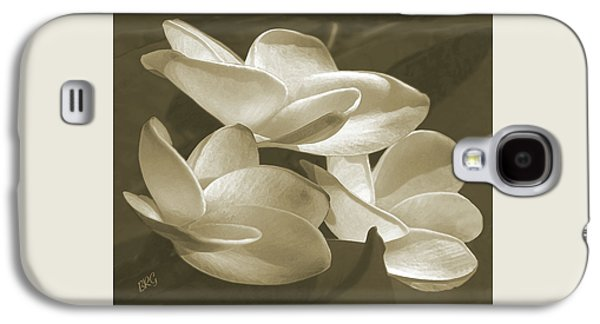 Vintage Plumeria Trio Galaxy S4 Case by Ben and Raisa Gertsberg