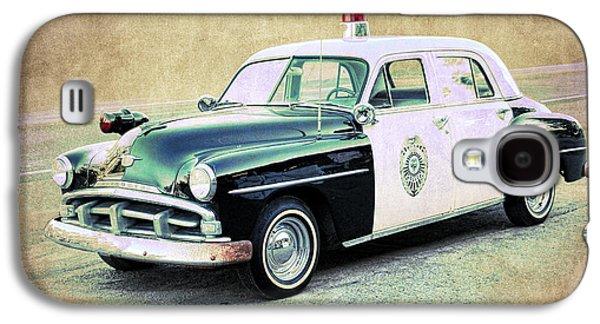 Vintage Plymouth Cop Car Galaxy S4 Case by Steve McKinzie