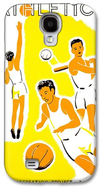 Vintage Poster - Wpa - Athletics 1 Galaxy S4 Case by Benjamin Yeager