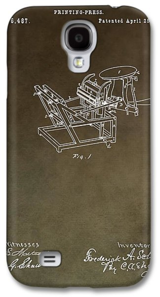 Vintage Printing Press Patent Galaxy S4 Case by Dan Sproul