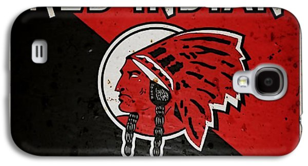 Vintage Red Indian Motor Oils Metal Sign Galaxy S4 Case