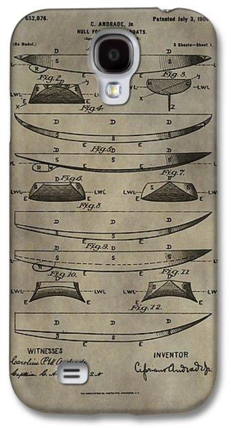 Vintage Ship Hull Patent Galaxy S4 Case