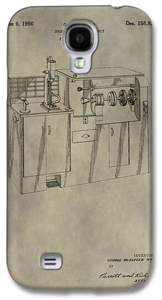 Vintage Shoe Repair Machine Patent Galaxy S4 Case by Dan Sproul