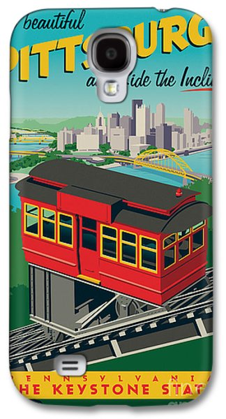 Travel Galaxy S4 Case - Pittsburgh Poster - Incline by Jim Zahniser