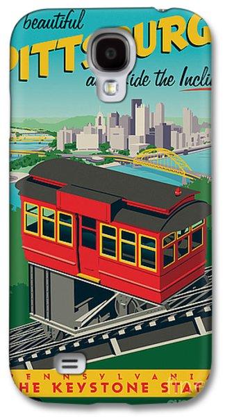 Bridges Galaxy S4 Case - Pittsburgh Poster - Incline by Jim Zahniser