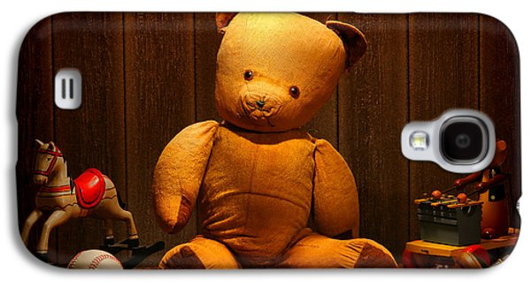 Vintage Teddy Bear And Toys Galaxy S4 Case by Olivier Le Queinec