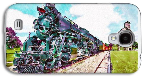 Vintage Train Watercolor Galaxy S4 Case