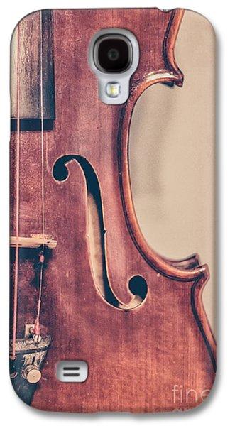 Violin Galaxy S4 Case - Vintage Violin Portrait 2 by Emily Kay